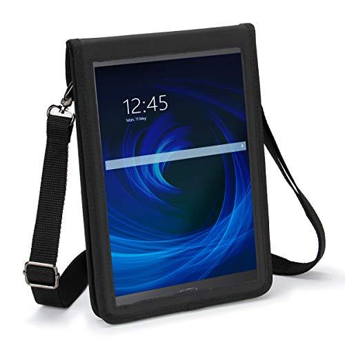 USA Gear 10 Zoll Hülle Für Tablet Hülle Kompatibel Mit Samsung Galaxy Tab A 10.1, Lenovo 10.1 Und Weiteren 10-zoll-tablets - Eingebauter Displayschutz Und Tragegurt (Schwarz)