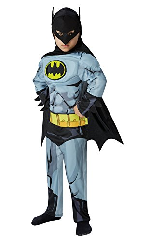 Rubie's 610779 Officieel Batman-kostuum voor jongens, superhelden-kostuum, voor kinderen