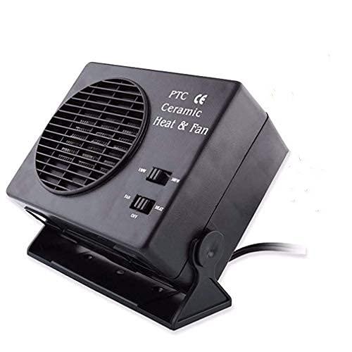 Coche Calentador Ventilador - Ventilador Calefacción Delaman Calentador Automóvil Cerámica Ahorro Energía Ventilador Interior Descongelador Descongelador, 12v 150w / 300watt (Vataje : 12V 300W)