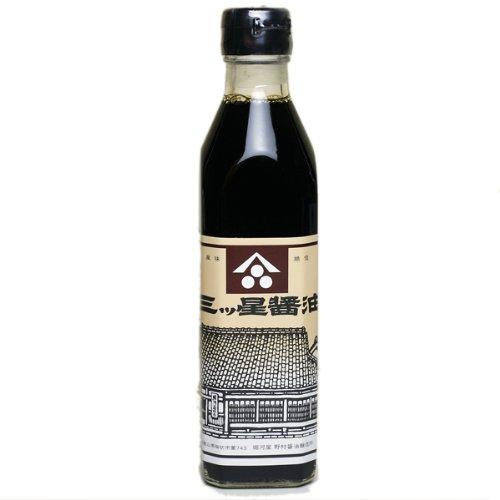 堀河屋野村 三ツ星醤油 300ml 濃い口醤油(本醸造)