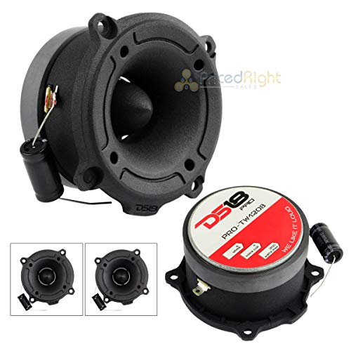 "DS18 Pro-TW120B 1"" Super Bullet Tweeter Black 300 Watts Max 4 Ohm Set of 2"