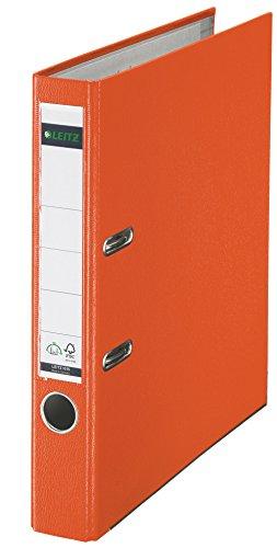 Leitz 10155045 Qualitäts-Ordner (Plastik-Cover, A4, 5,2 cm Rückenbreite) orange