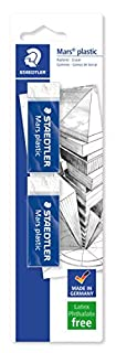 Staedtler Mars Plastic Eraser - White, Pack of 2 (B0013G1FAE) | Amazon price tracker / tracking, Amazon price history charts, Amazon price watches, Amazon price drop alerts