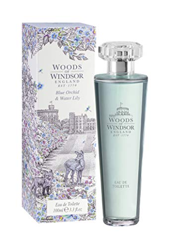 Woods of Windsor Eau de Toilette Spray, Blue Orchid and Water Lily, 3.4 Ounce