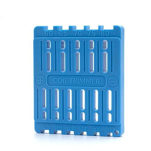 RUIYITECH Spulenschneidewerkzeug für RDA DIY Vape Draht Spule Lineal Trimmer Bauen elektronische Zigaretten Zubehör blau