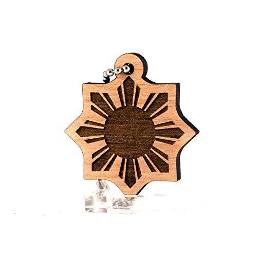 Sunset Design Lab Philippines Sun Filipino Wood Laser Cut Keychain Charm Ornament