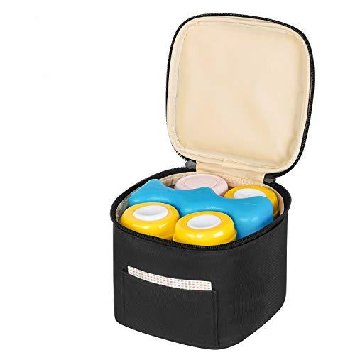Teamoy Kühltasche für Babyflaschen, Warmhaltetaschen Isoliertasche für 4 Muttermilchflaschen(120-150ml) und Eisbeutel, (Hinweis: Ohne Flaschen und Eisbeutel), Schwarz