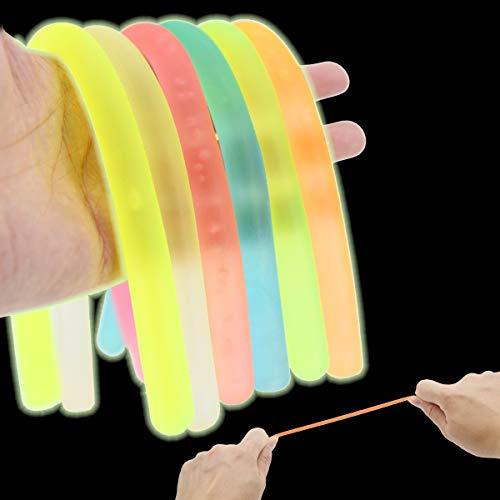 ENTHUR 6Pcs Fidget Toys Stretchy String Sensory Toys,Fidget Toys Build Resistance Squeeze Pull,...
