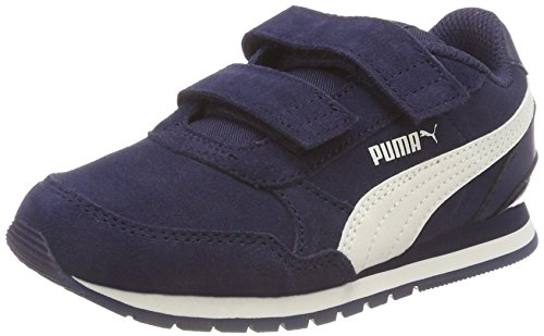 PUMA Unisex-Kinder ST Runner V2 SD V PS Sneaker, Blau (Peacoat-Whisper White 01), 34 EU