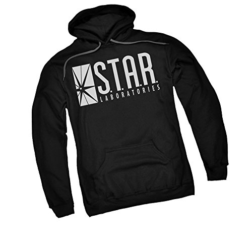 DC Comics S.T.A.R. Labs Logo - CW's The Flash TV Show Adult Hoodie Fleece Sweatshirt, Medium Black