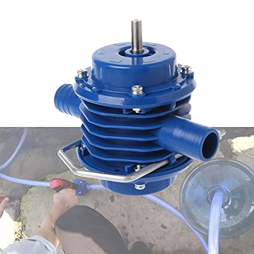 XMSH Water Pump Accessories Self-Priming Hand Electric Drill Water Pump Heavy Duty Home Garden Centrifugal Hand Drill Water Pump Boat Bilge Water Pump