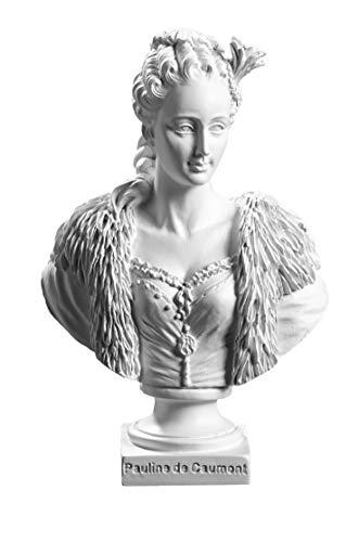 Reproduktion Büste Pauline de Cachont Farbe Weiß 13/9/5,5 cm
