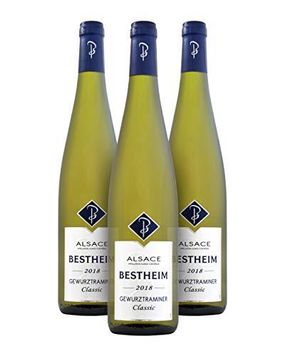 Bestheim Gewürztraminer A.O.C. Alsace Vino Blanco - Alsacia, Francia - Pack de 3 Bot. 75 cl