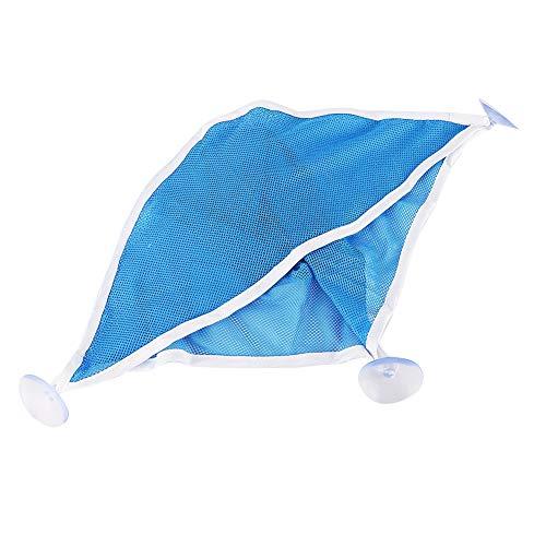 XINL Almacenamiento para Carrito de Ducha, Material de Mezcla de algodón de Calidad Diseño de Fugas de Malla Inferior Diseño único para Colgar en la Pared Organizador de(Blue)