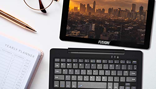 Product Image 2: Fusion5 10.1″ 2in1 Google Certified Android Laptop Tablet PC – (Powerful Processor, Android 10 Q, 3GB RAM, 32GB Storage, Dual Cameras, HD IPS, Type C, Bluetooth Tablet PC with Docking Keyboard)