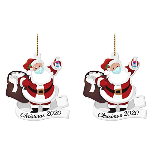 PIKAqiu33 Home Decor, 2020 Christmas Ornament Santa Wearing A Face Cover Decorate Christmas Tree, Products for New Year (Multicolor)