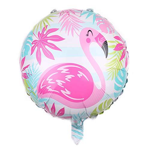 Scrox 10 Piezas Globos de Cumpleaños Rosa Flamenco Globo de Aluminio Látex Globos de Helio Boda Fiesta Hawaiana DIY Boho Decoracion Regalos (Colorear)