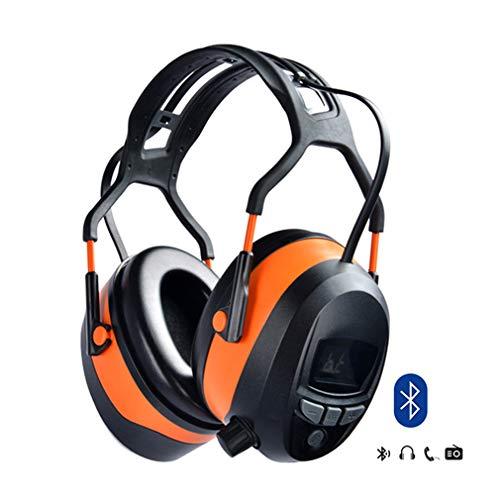 Gardtech Ear Defenders Schutz-Muffs Kopfhörer mit Radio FM, Stereo-Kopfhöreranschluss Sicherheit Kapselgehörschützer Mit LCD Display Und 4G - SD - Karte SNR 29DB