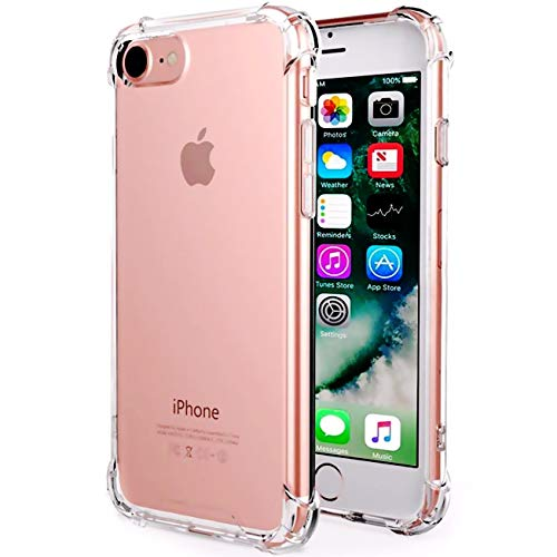 CaseHQ Clear Gray case Compatible with iPhone 6, 6s Phone, Shock Absorption case Bumper Slim Fit,Heavy Duty Protection TPU Cover Case