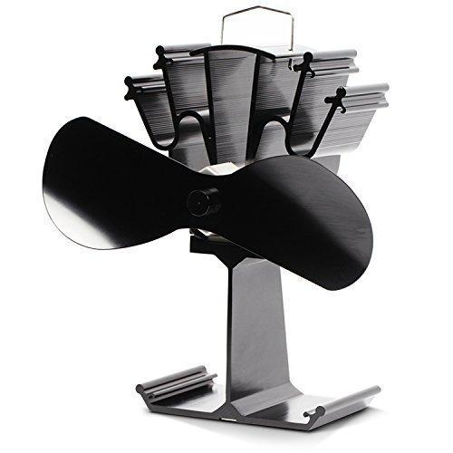 Kenley Stromloser Ventilator für Holzöfen Kamin Öfen, 4 Flügel, hfw-sf09