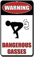 アルミニウム金属看板おかしい警告危険なガス有益な目新しさの壁アート垂直