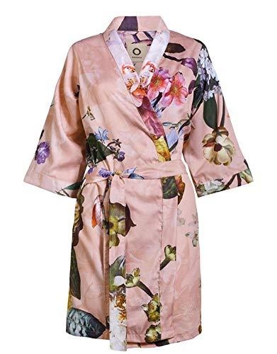 ESSENZA Kimono Fleur Blumen Pfingstrosen Tulpen Baumwollsatin Rosa, XL