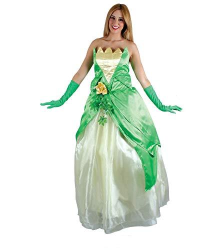 Disfraz Princesa Rana Mujer Adultos Verde Vestido de Disney para Fiesta Carnaval Cosplay