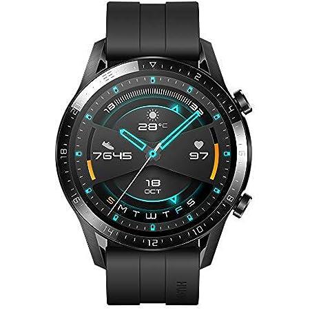 HUAWEI Watch GT 2 Smartwatch 46 mm, Durata Batteria fino a 2 Settimane, GPS, 15 Modalità di Allenamento, Display del Quadrante in Vetro 3D, Chiamata Tramite Bluetooth, Matte Black