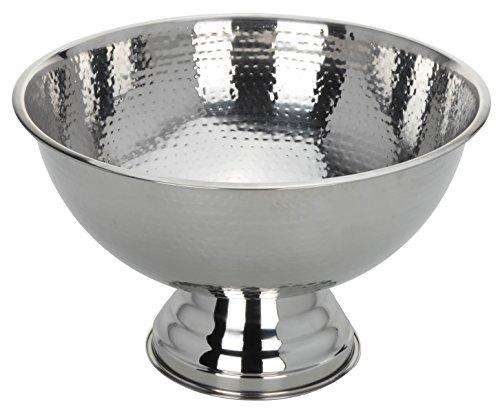 Sektkühler Weinkühler Eiskühler Schale Silber Edelstahl 24x40 XXL rund Festlich