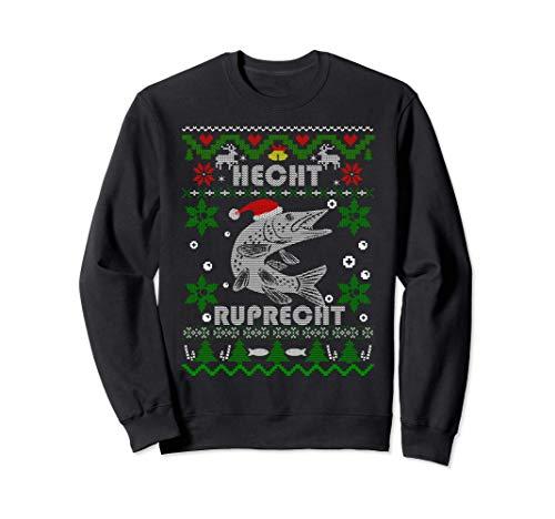 Lustige Hecht Ruprecht Angler Geschenke Weihnachten Angeln Sweatshirt