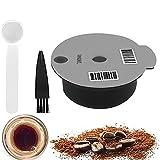 Wiederverwendbare Kaffeekapseln, Nachfüllbare Kaffeepads Kaffeefilter mit Slicone Deckel, Waschbar Silikon Kaffee Kapsel Kompatibel mit Bosch Tassimo Kaffeemaschinen, 180ml / 60ml Optional