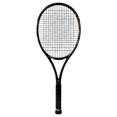 Raqueta de Tenis para Adultos de 27 Pulgadas, Raqueta de Tenis de Fibra de Carbono Ligera a Prueba de Golpes, Adecuada para Deportes al Aire Libre