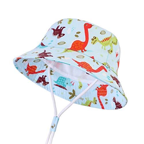 Chapeau De Soleil Pour Enfants Coton Dessin Animé Impression Garçon Chapeau Printemps Bébé Pêcheur Bassin Chapeau Chapeau De Dinosaure