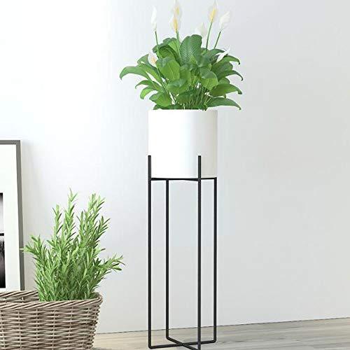 TongN Support pour fleurs Balcon Salon-à-plancher Nordic Iron Cross Moderne Minimaliste Flowerpot Green Flower Rack (Color : White, Size : L)