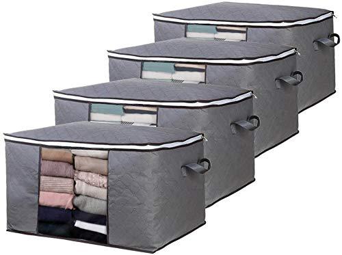 scatole per armadio offerte Boic 4PCS Scatole per Armadio Salvaspazio