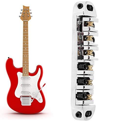 Fybida Puente de Guitarra eléctrica Ajustable para una Amplia Gama de Guitarras(Chrome)