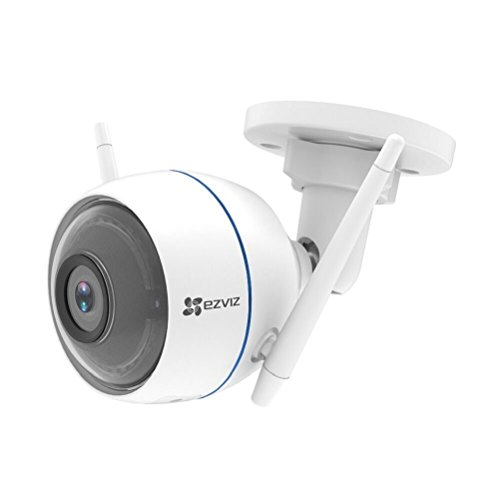 EZVIZ ezTube 720p Cámara de Seguridad, WiFi Cámara de Vigilancia, Defensa Activa, Luz Estroboscópica y Sirena, IP66, Visión Nocturna, Audio Bidireccional, Servicio de Nube, Compatible Con Alexa