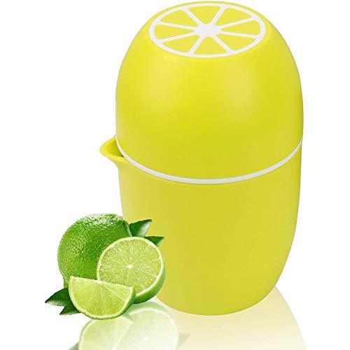 Nevay Exprimidor de frutas manual portátil exprimidor de limón, exprimidor de prensa de mano, seguro y rápido, muy fácil de limpiar para el hogar, bar, cocina, viajes