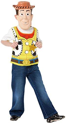 Rubie's-déguisement officiel - Disney- Kit de Déguisement Woody : Masque Eva + Plastron- I-9919