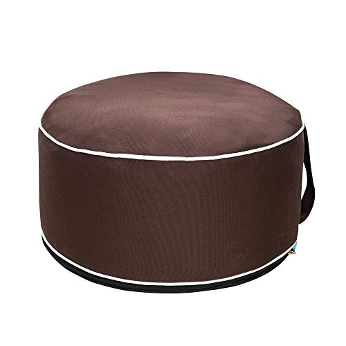 QILLOWAY Indoor/Outdoor Inflatable Stool,Round Ottoman,Foot Rest for Kids or Adults, Camping or Home...