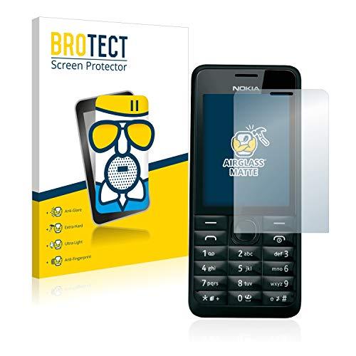 brotect Pellicola Vetro Opaca Compatibile con Nokia 301 Protezione Schermo Anti-Riflesso Durezza 9H, AirGlass