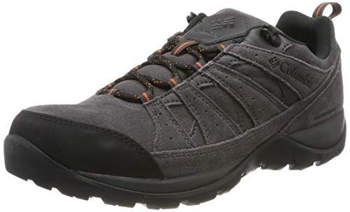 Columbia REDMOND V2 Leather Wasserdichter Wanderschuh für Herren, Schwarz (Dark Grey, Dese 089), 44 EU