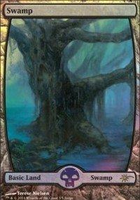 Magic The Gathering - Swamp - Full Art Foil - Judge Promos - Foil