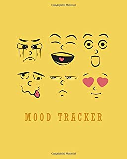 Mood Tracker: Self Care Planner, Mood Calendar - 150 Pages, 8 x 10 inches, White Paper, Matte Finished Soft Cover