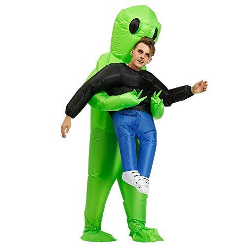 Costume d'alien gonflable - Vert (adulte/enfant).