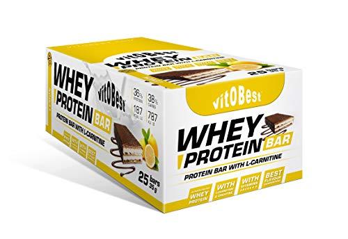 Barritas Whey Protein Barras Nutritivas Energéticas - Sabor Limón - 35 gr (25 barritas)