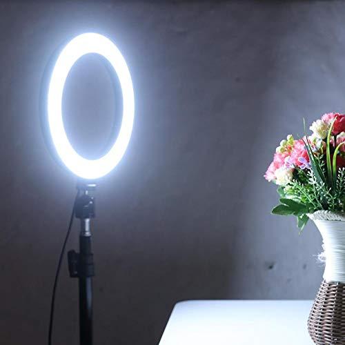 FECAMOS Luz Regulable del Anillo de la luz Regulable del Anillo de 10 Pulgadas LED para la transmisión en Vivo