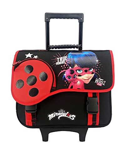 Mochila con ruedas de 38 cm Miraculous/Ladybug negro y rojo Bagtrotter