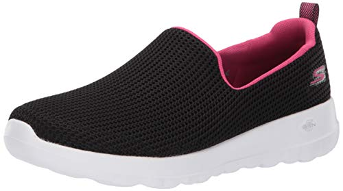 Skechers Women's GO Walk JOY-15637 Sneaker, Black/hot Pink, 7 M US