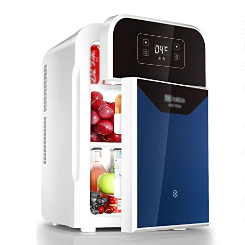 Rindasr Mini-koelkast, dual-core dual-deur digitale display Touch Electricity koelkast, 22 liter koel- en warmte-isolatie, tafelkoelkast, huishoudelijk, kleine koelkast B